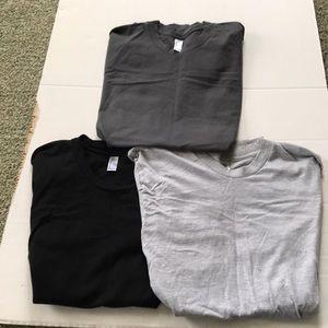 American Apparel grey/black/charcoal tee shirts